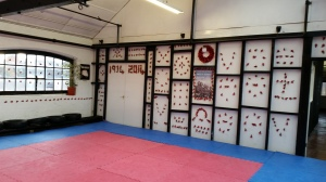 1350 poppies displayed at AG's Martial Arts Centre. 4th -11th November 2014